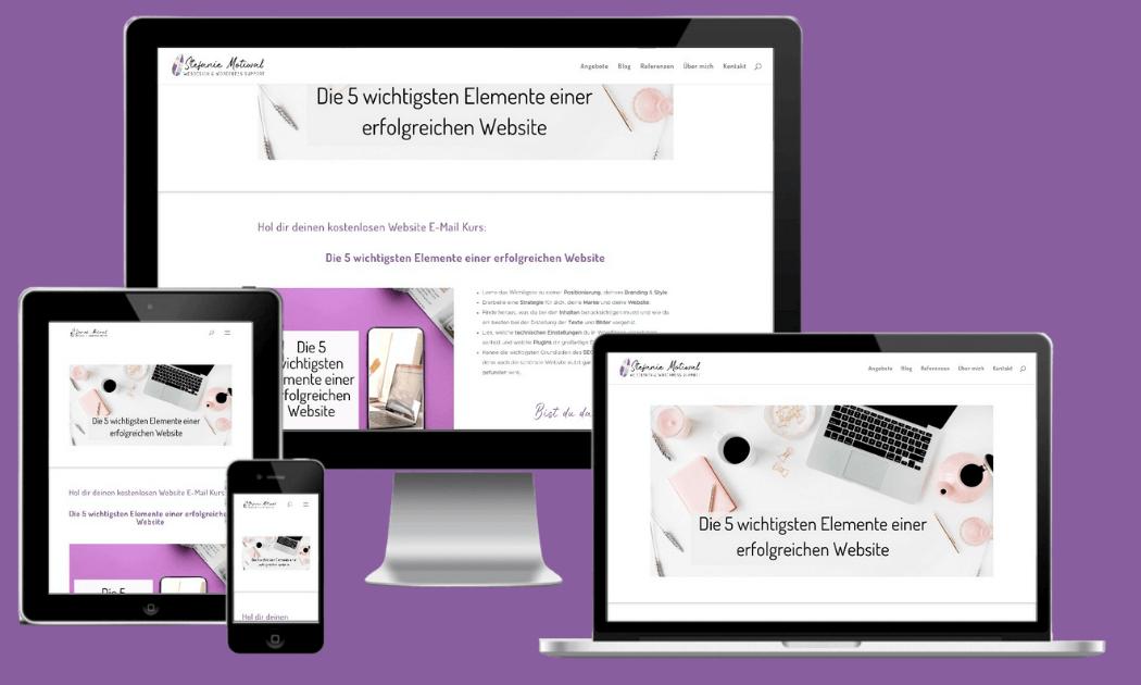 Die 5 Elemente einer erfolgreichen Website