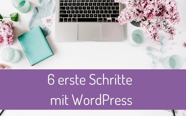 6 erste Schritte mit WordPress