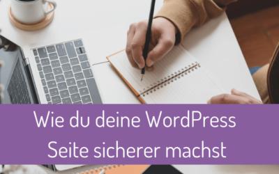 Wie du deine WordPress Website sicherer machst