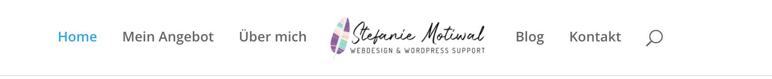 Logo zentriert im Menü