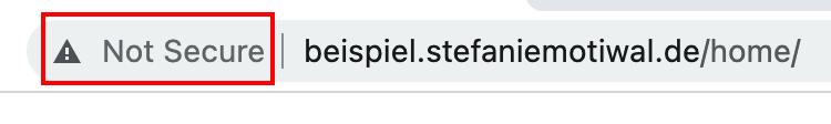 SSL Zertifikat fehlt - not secure